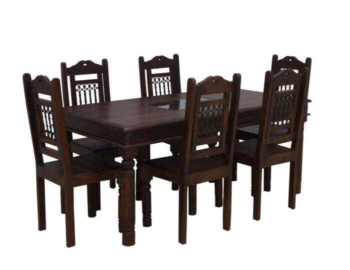 Komplety obiadowe kolonialne (zestawy: stół + krzesła)