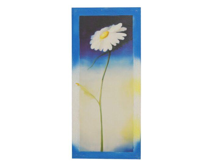 obraz-bialy-kwiat-na-plotnie