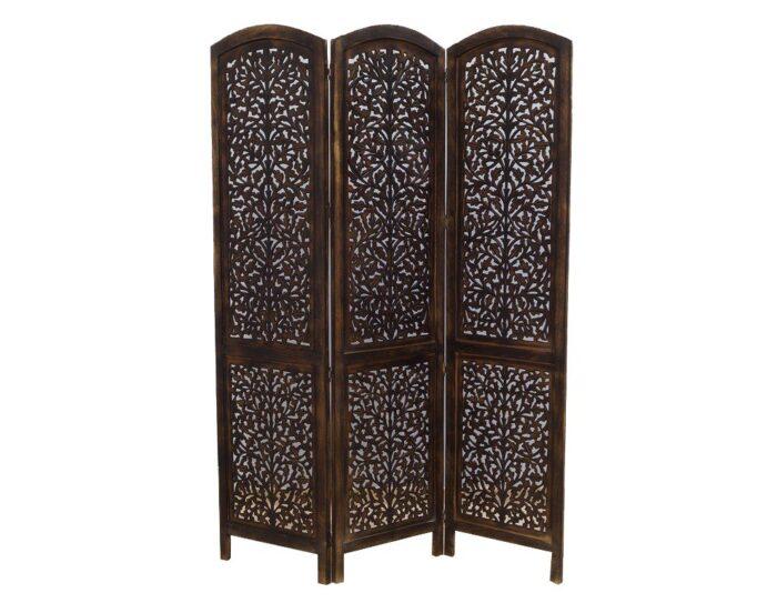 parawan-indyjski-3-panelowy-azurowy-recznie-malowany