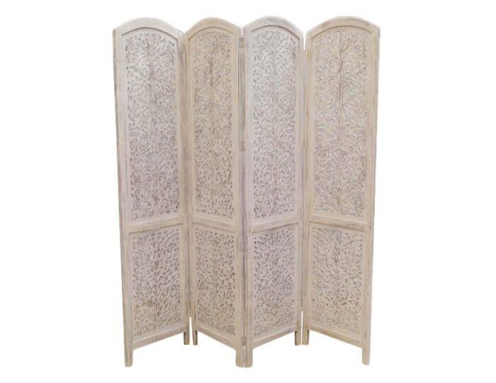 parawan-indyjski-4-panelowy-azurowy-recznie-malowany