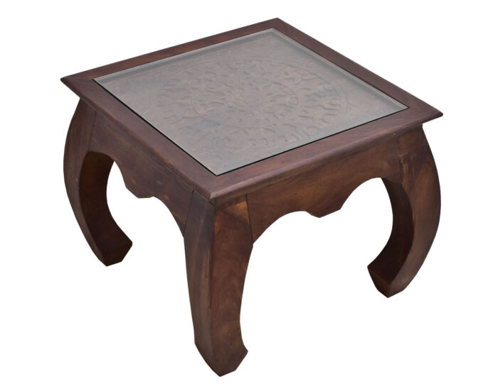 stolik indyjski rzezbiony z szyba kolonialny opium (1)