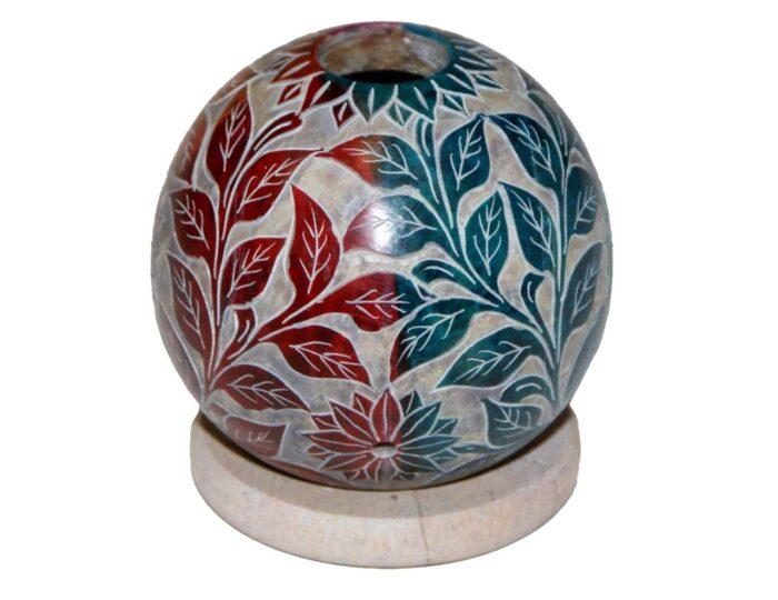 swiecznik-z-kamienia-mydlanego-kula-kolor