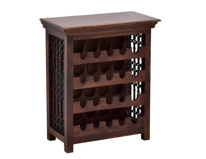 szafka na wino drewno palisander metaloplastyka (5)